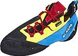 Scarpa Chimera, Zapatillas de Escalada Hombre, Yellow-Black-Vivid Blue FZ, 41.5 EU
